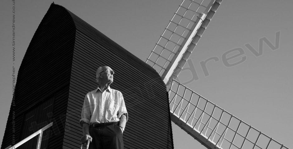 Jim Saunders at Brill Windmill