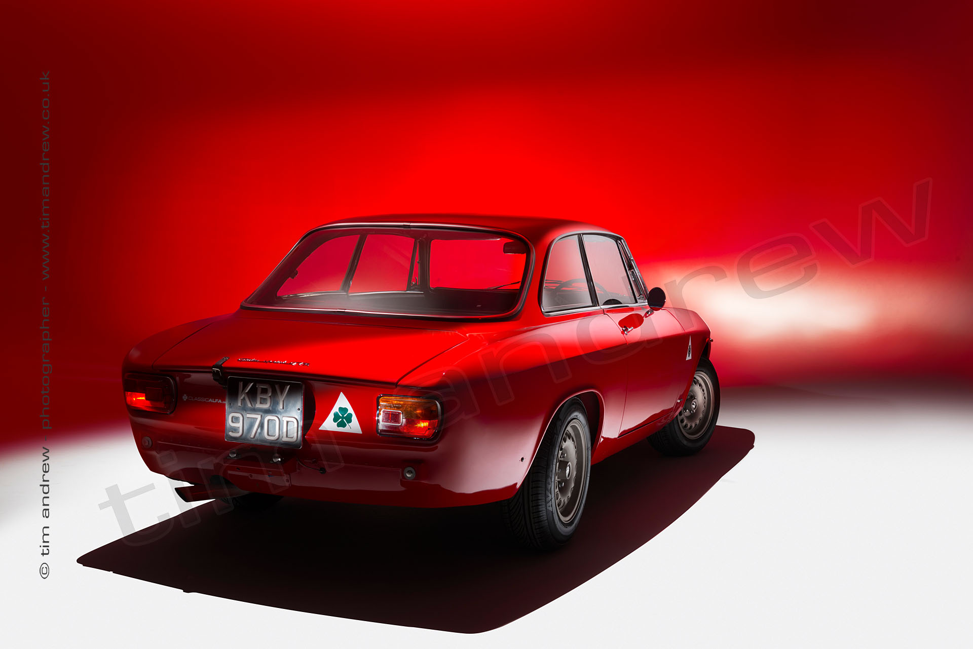 studio shot of old Alfa Romeo