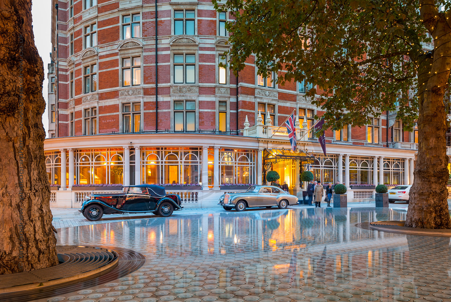 Classic Cars at the Connaught Hotel London shot by Tim Andrew