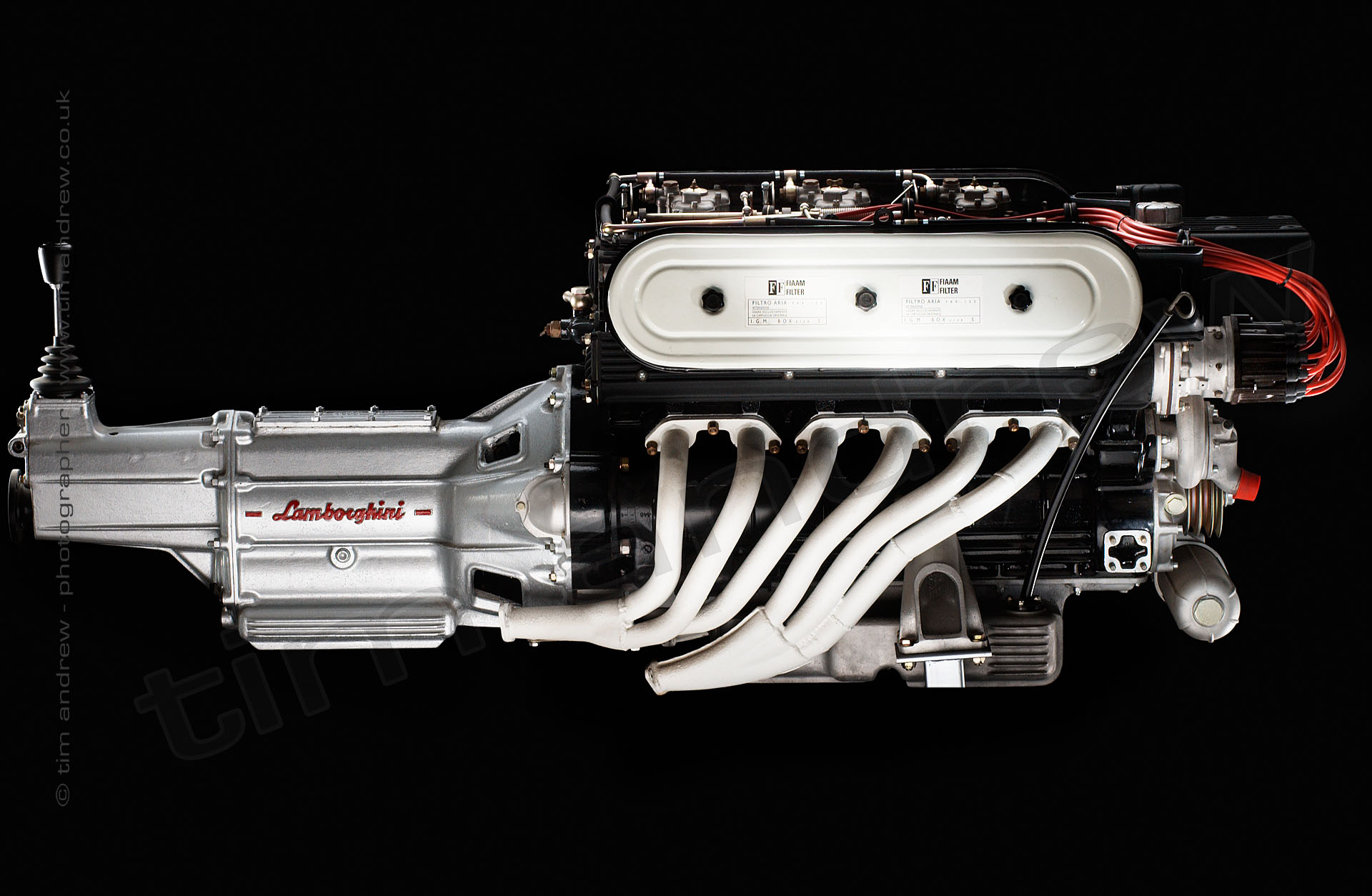 Lamborghini V12 engine and gearbox