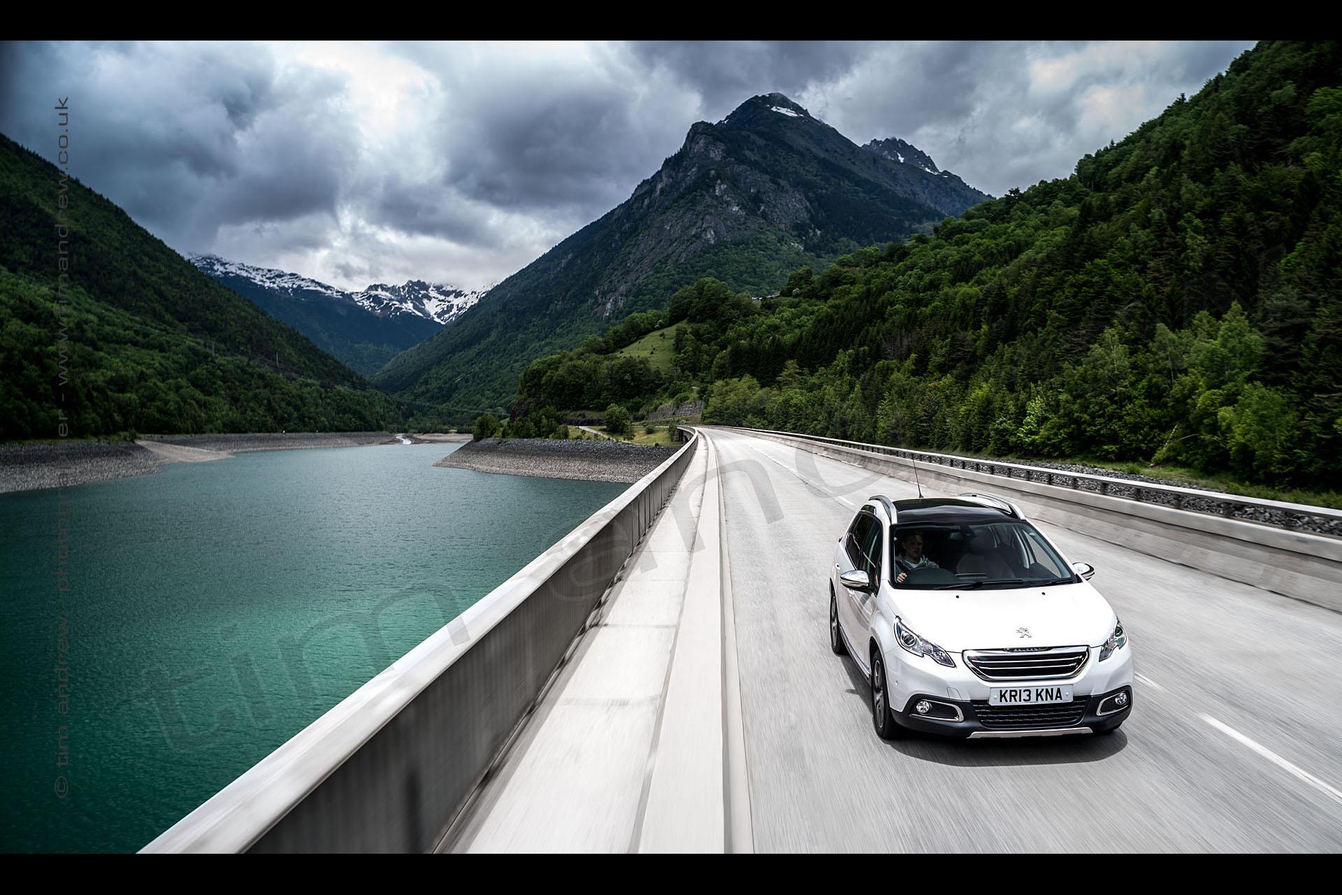 Peugeot 2008 in Alps