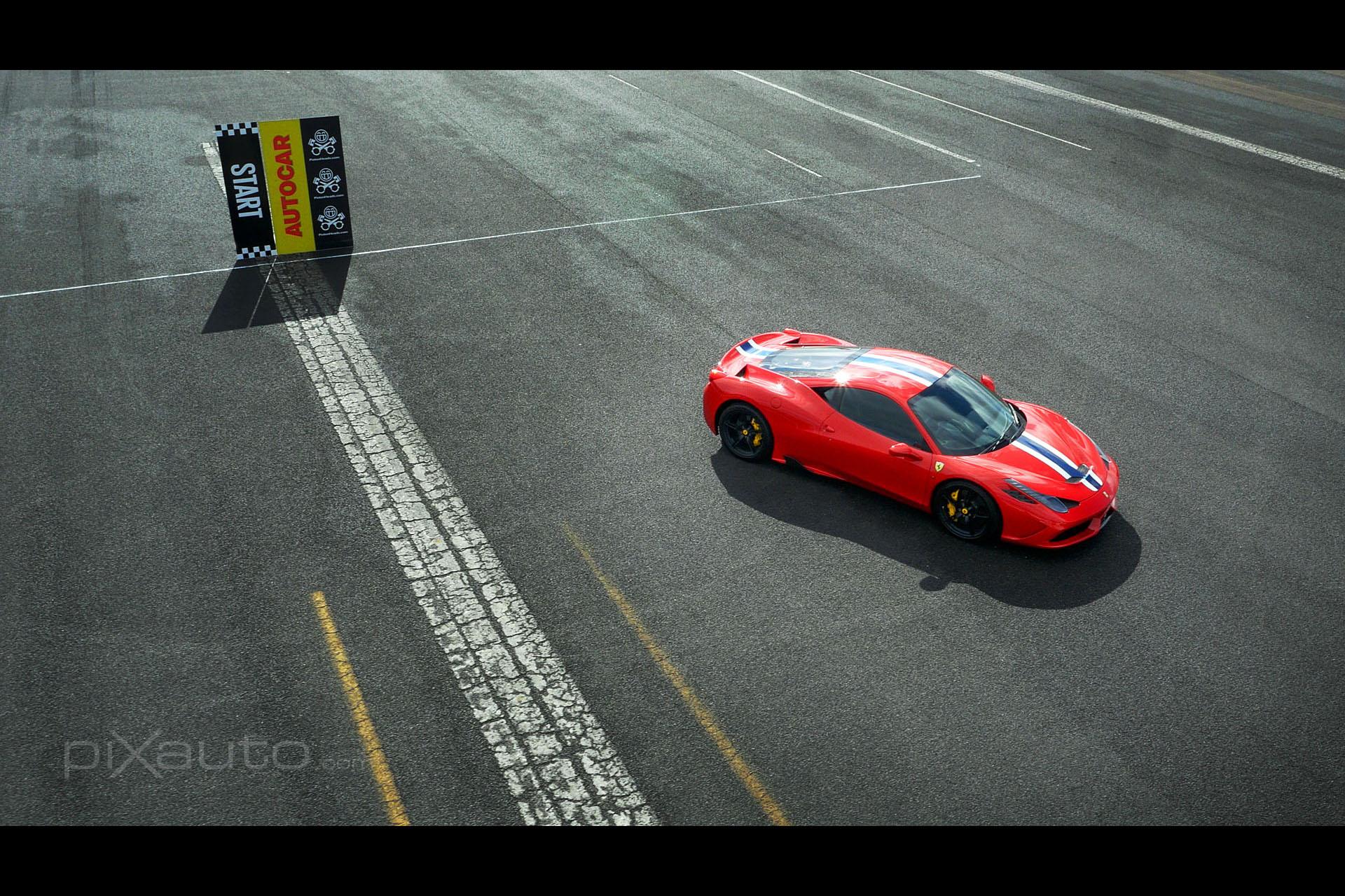 Ferrari 430 aerial photo