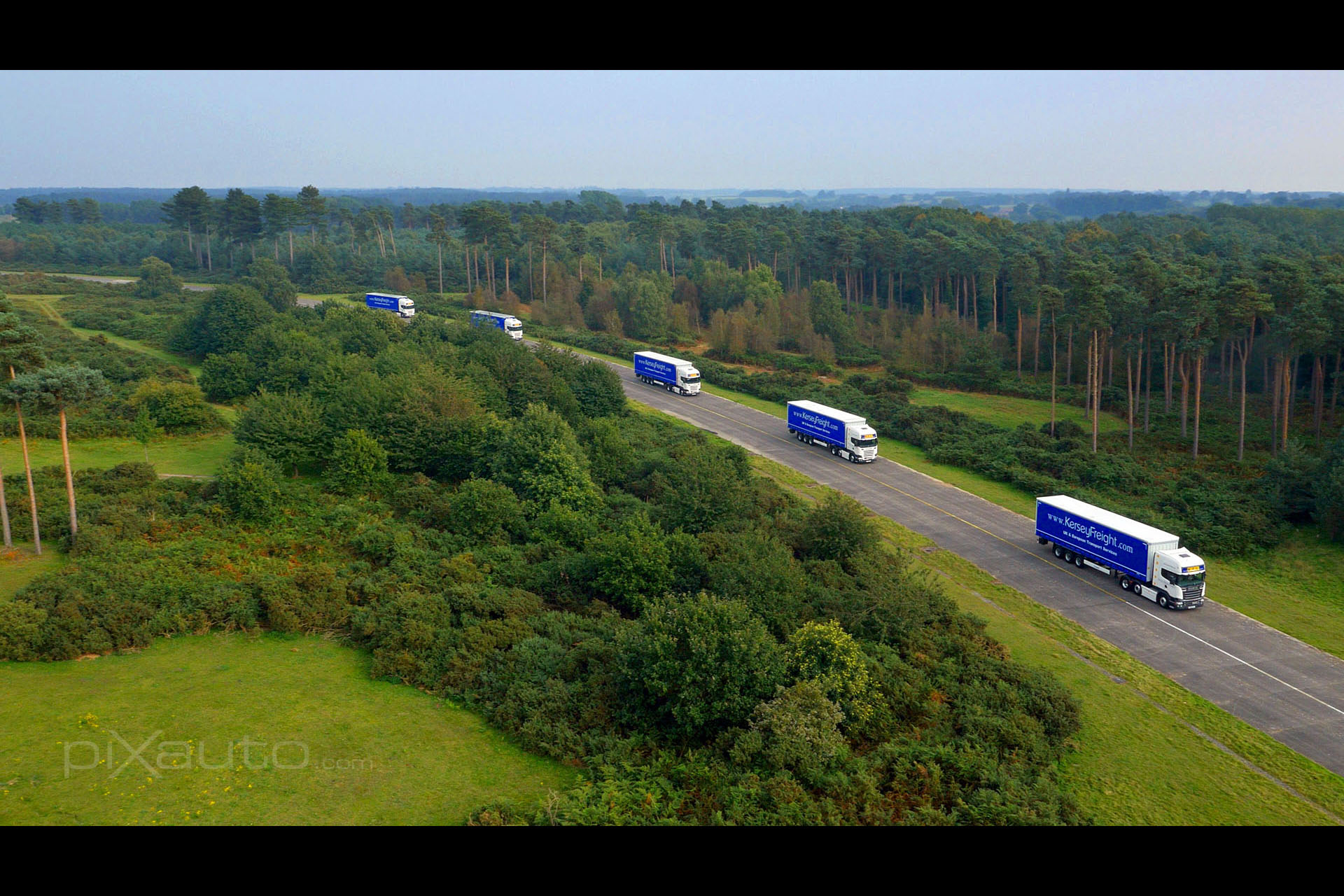 Kersey Freight aerial photography