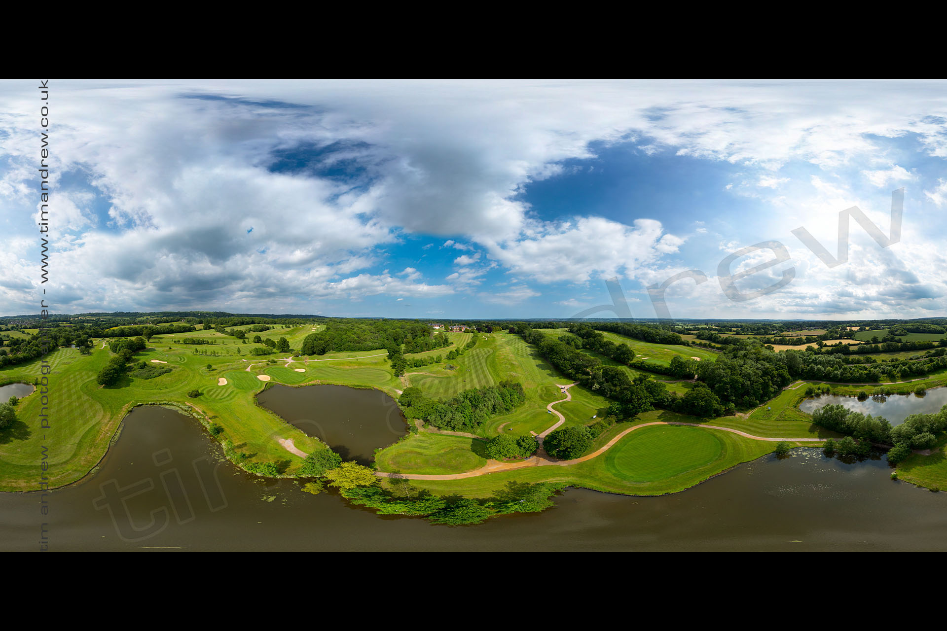 Niels Golf Course aerial panoram