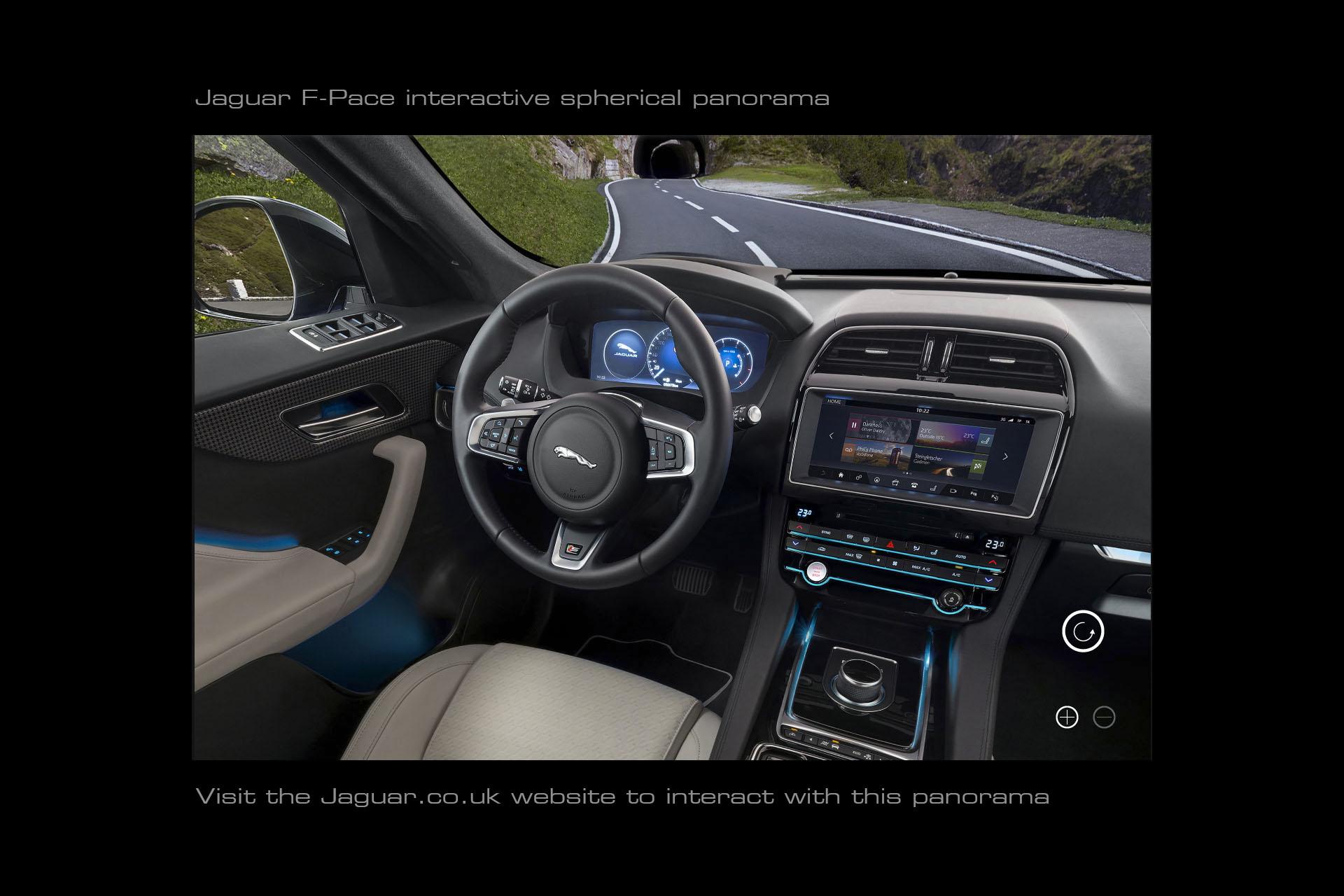 Jaguar F-Pace interior 360 panorama