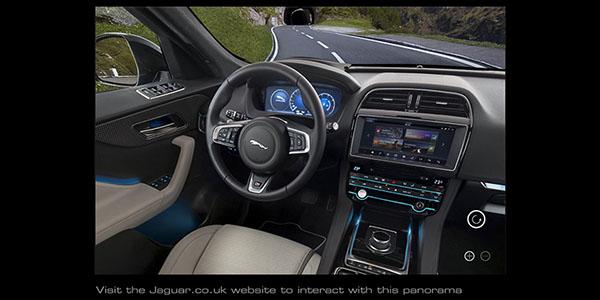 Jaguar F-Pace interior 360 link