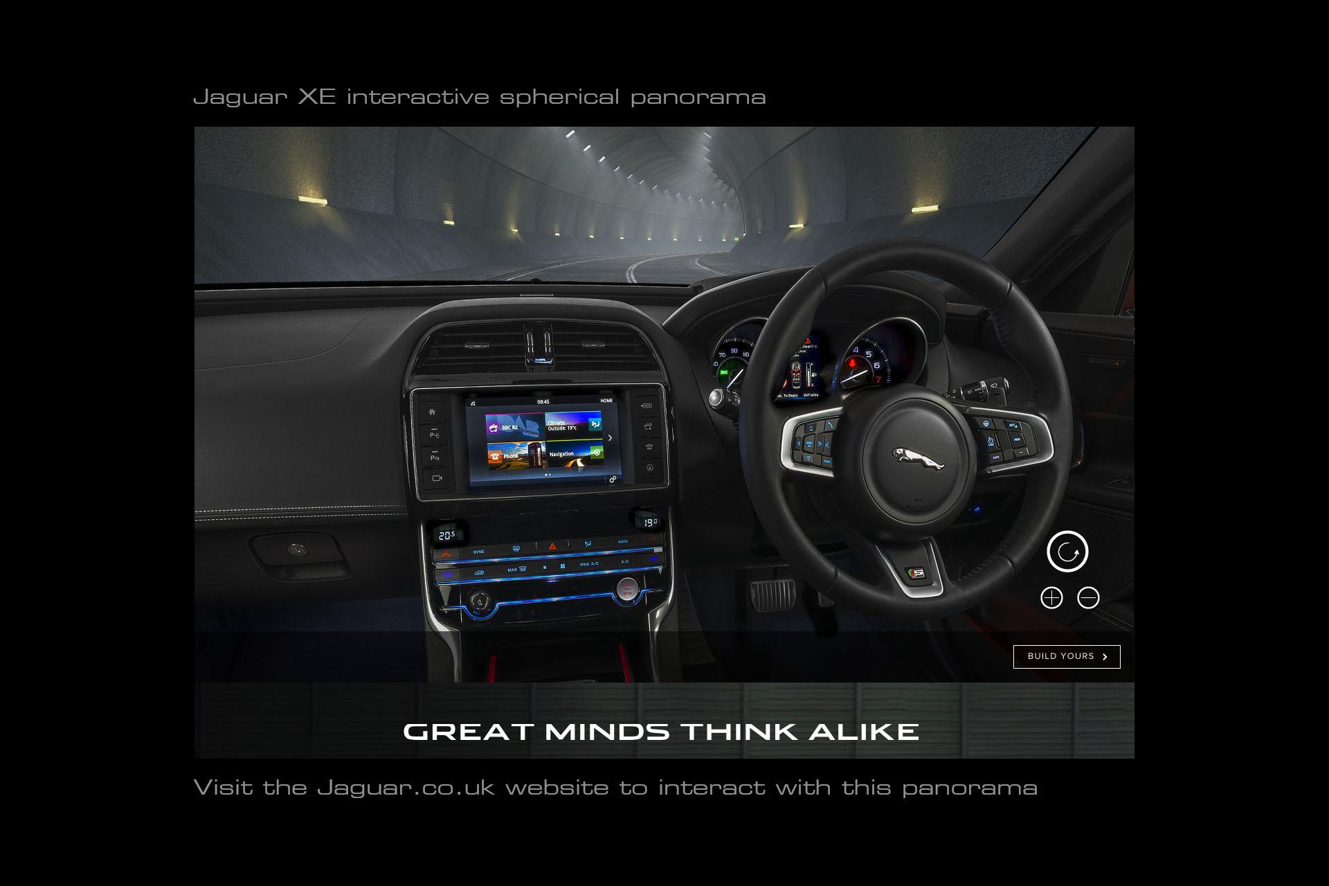 Jaguar XE interior 360 panorama