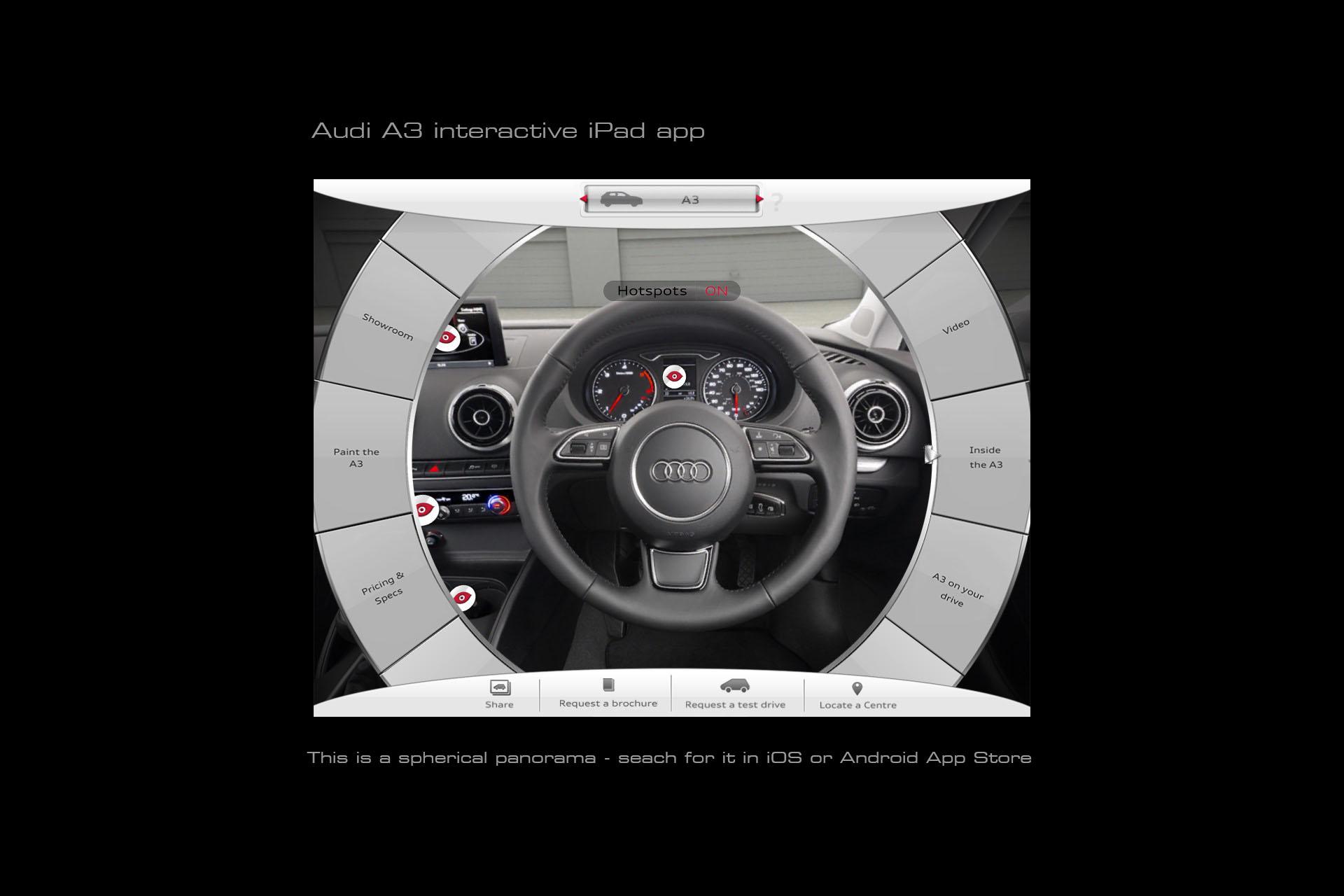 Audi A3 interactive iPad app