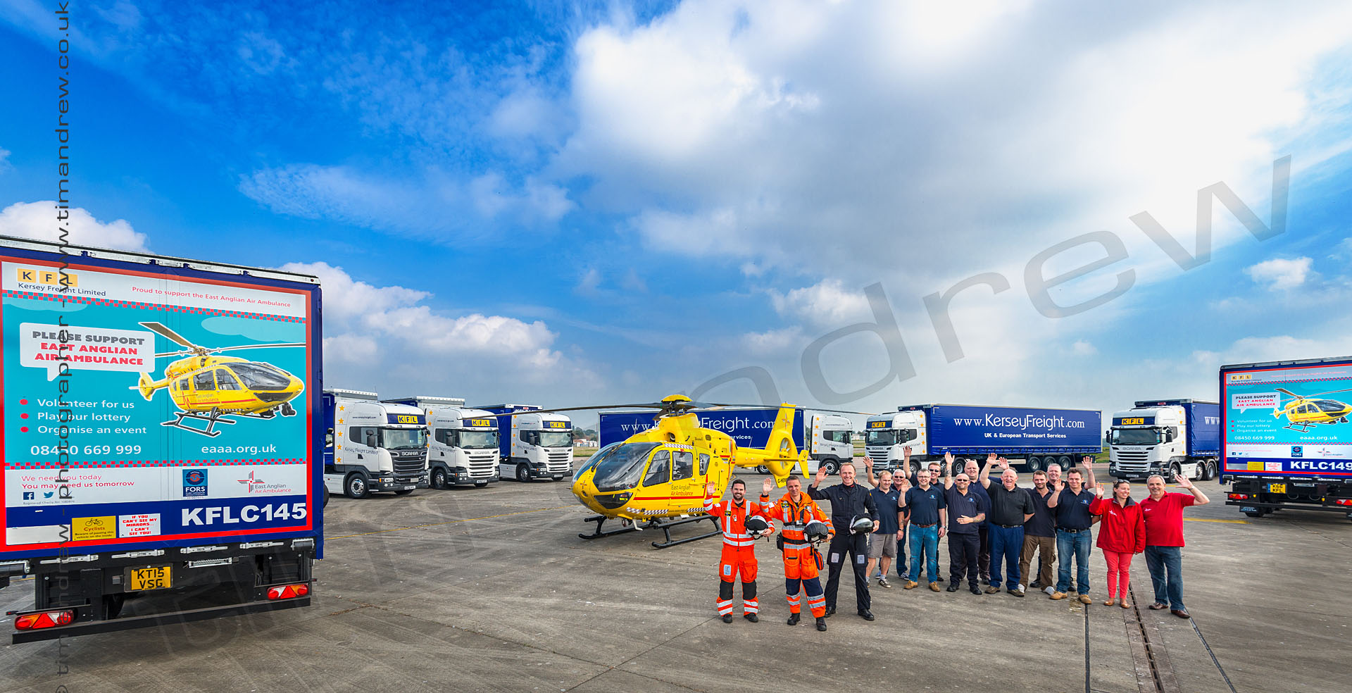 Kersey Freight and East Anglia helicopter air ambulance