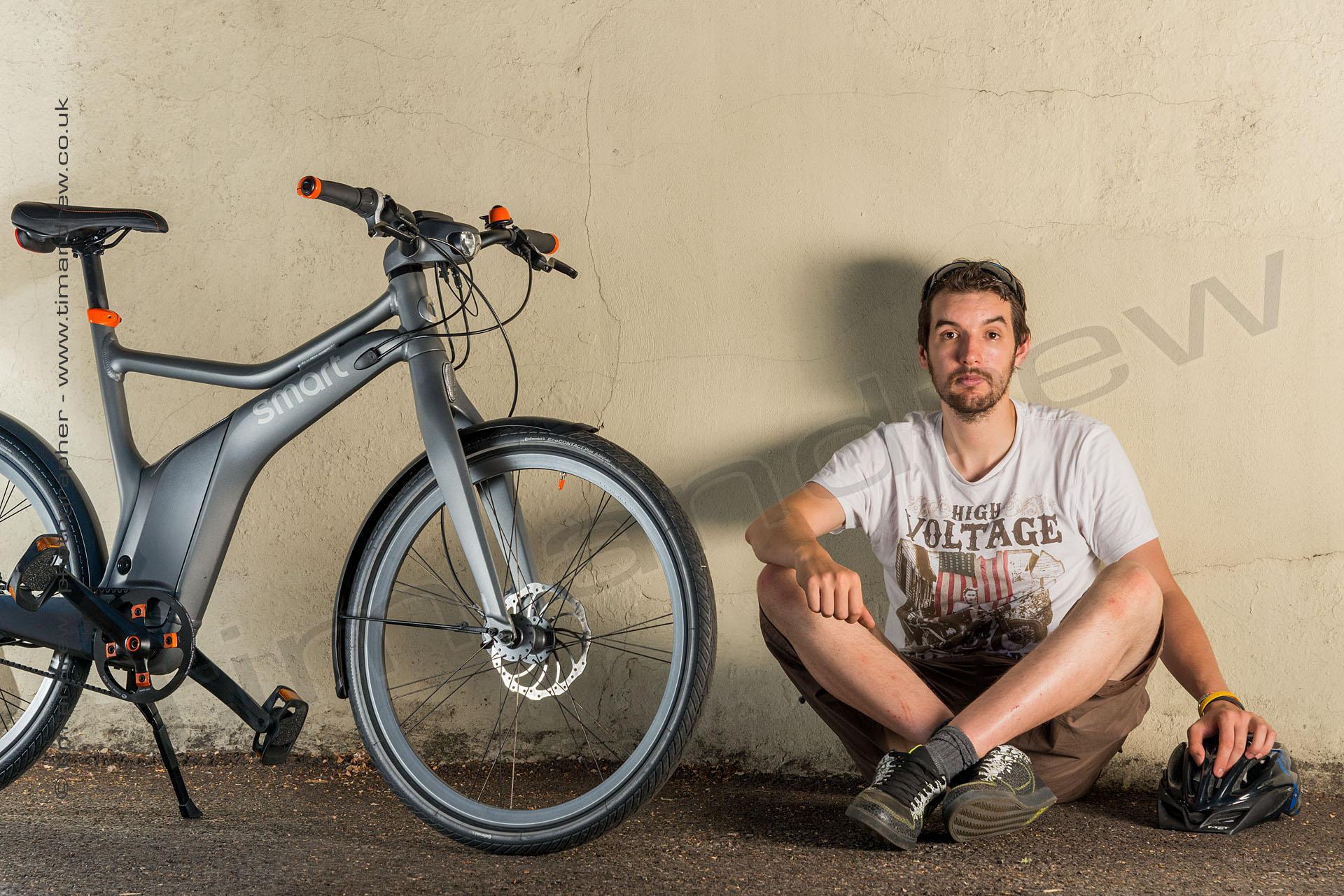 Smart E-bike and owner