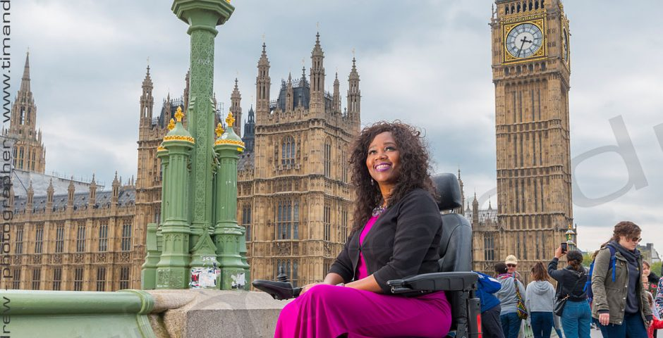 Yvette Pegues on Pride Mobility