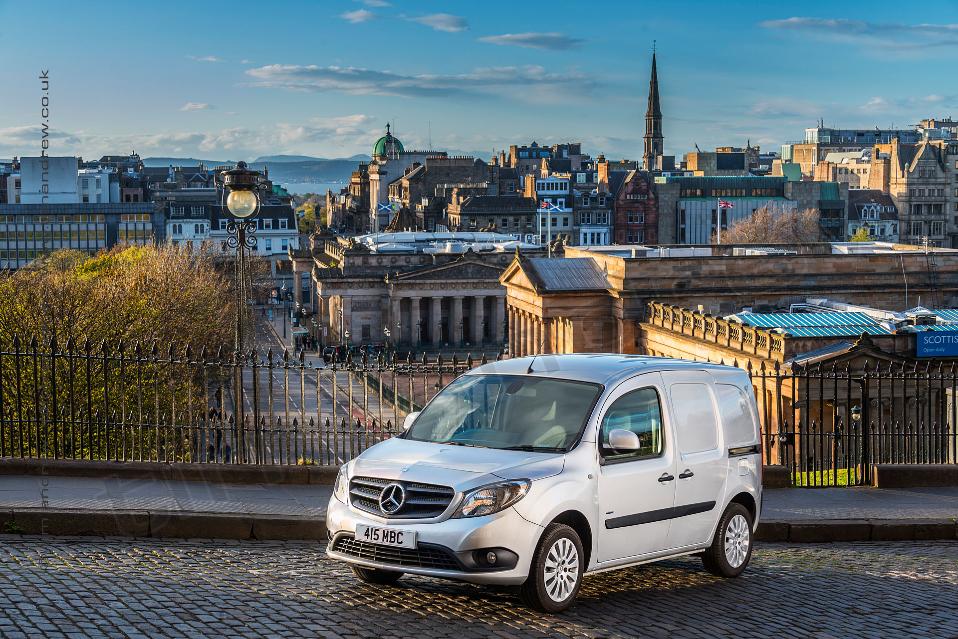 Mercedes Citan van in Edinburgh